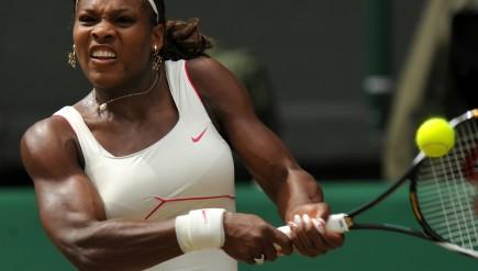 (FILES) US Serena Williams returns a bal