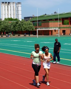 women on track