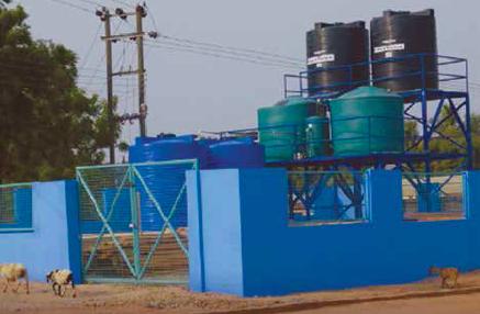 Safe Water Network's modular slow sand filtration system, Aveme, Volta Region, Ghana