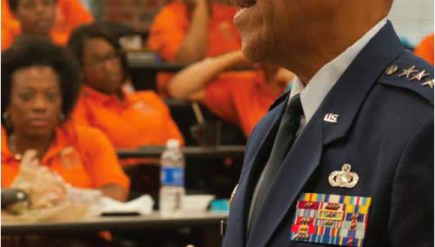 Air Force Vice Chief of Staff Gen. Larry O. Spencer spoke to local educators
