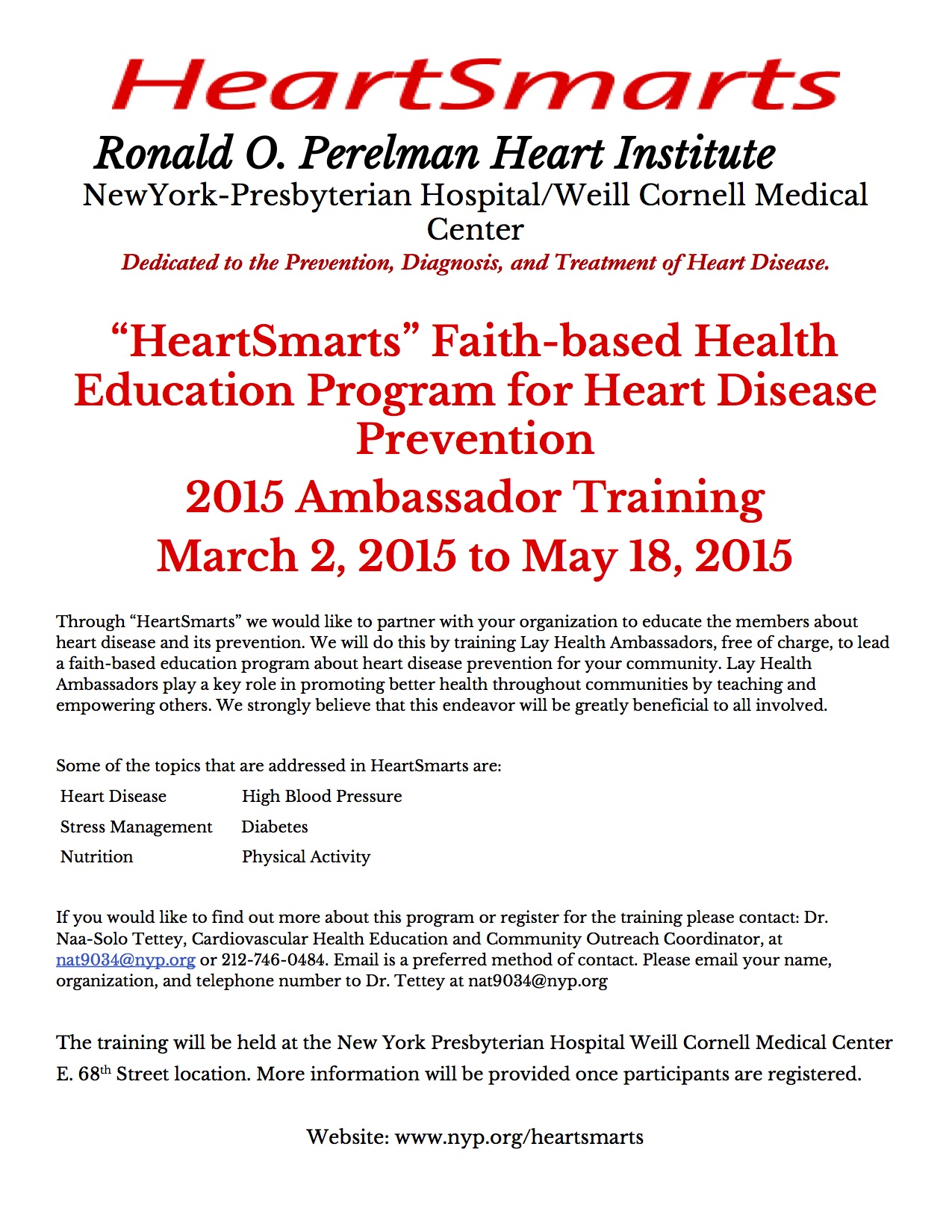 HeartSmartsAmbassadorTraining2015Flier2-30
