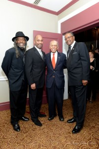 Lloyd Douglas, OHBM Board Member; Michael J. Garner, President, OHBM and Chief Diversity Officer MTA; Dr. Roscoe Brown, Jr. OHBM Member, Phil Banks, Jr., Past President, OHBM