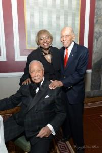 Hon. David N. Dinkins, Ruth Clarke, Former OHBM President Dr. Roscoe Brown, Jr.