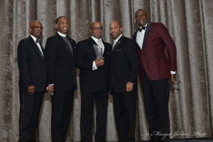 Will Brown, Jr. Co-Chair, Gala Committee; Reverend Jacques Andre De Graff, Phil Banks III. Former NYPD Chief of Department, Michael J. Garner, President, OHBM and Chief Diversity Officer MTA, Robert B. Brown, 3rd Vice President, OHBM and CFO, The New York Yankees