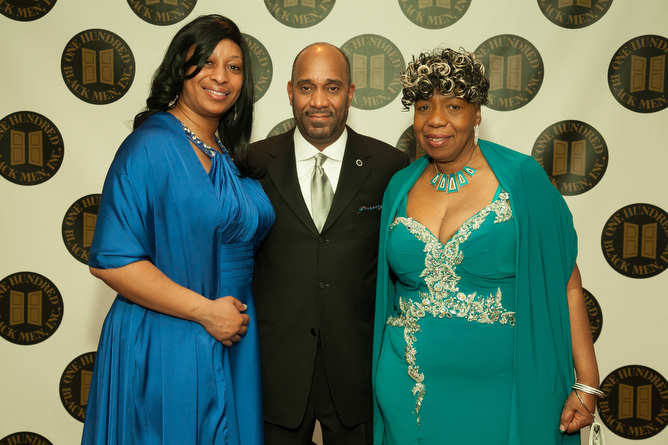 Alicia Garner, sister of Eric Garner, Michael J. Garner, OHBM President and Chief Diversity Officer, MTA, and Mrs. Gwen Carr, mother of Eric Garne