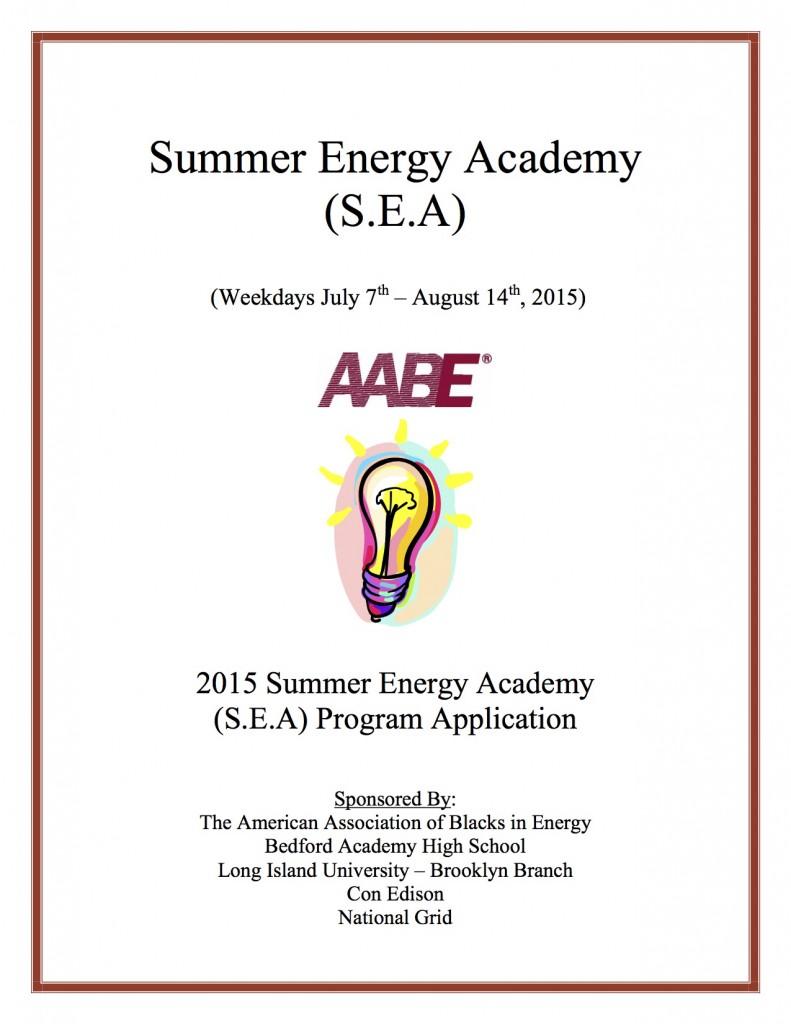 2015 - Summer Energy Academy Application