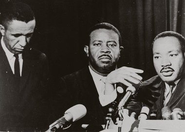 Gilbert H. Caldwell, Jr. with Rev. Abernathy and Dr. King
