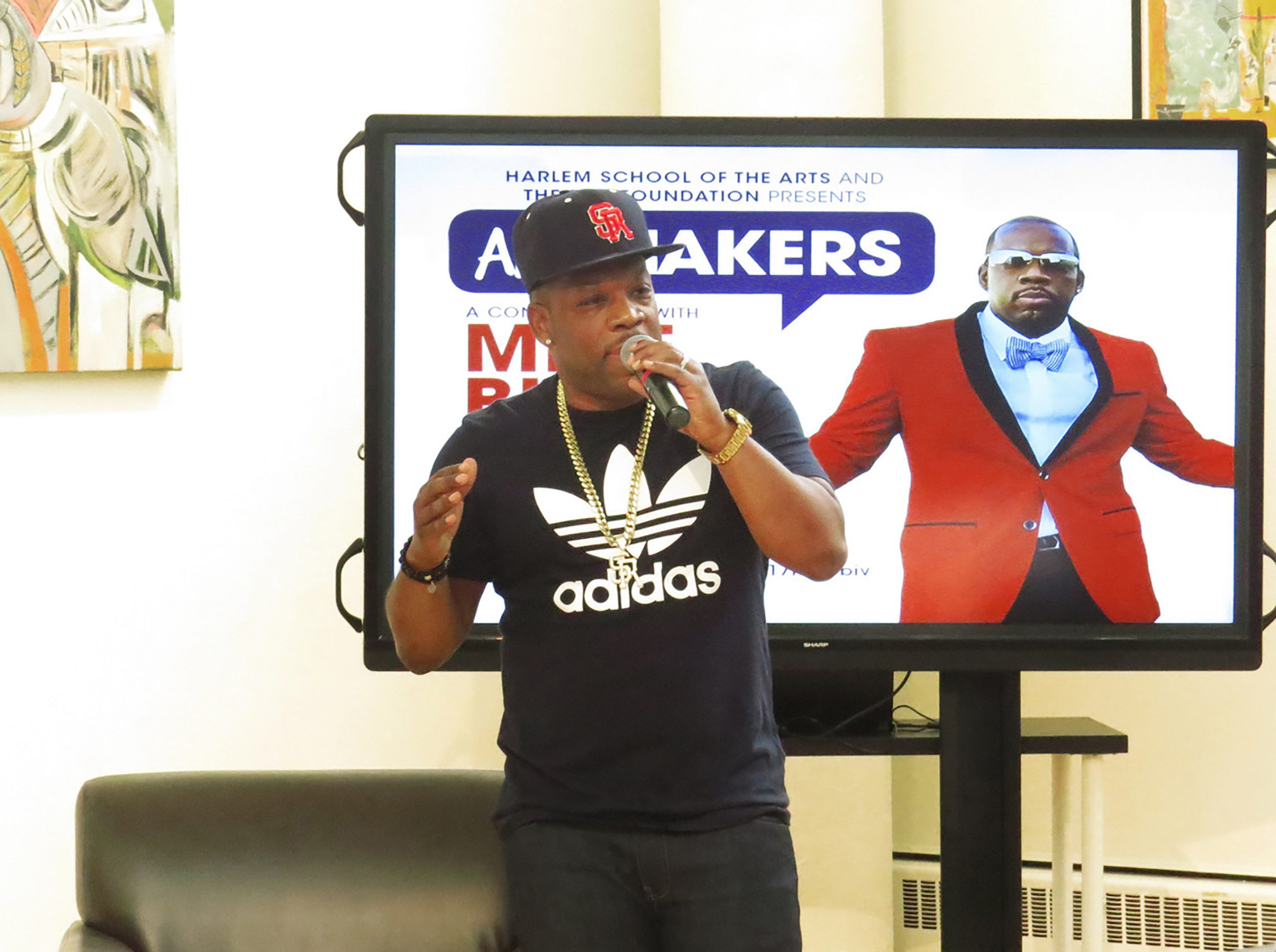 Michael Bivins gives back to the youth at Harlem School of the Arts