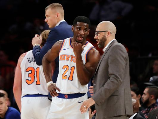 Damyean Dotson and David Fizdale