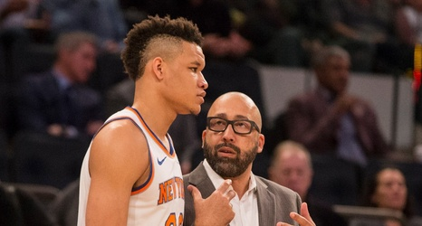 Kevin Knox and David Fizdale
