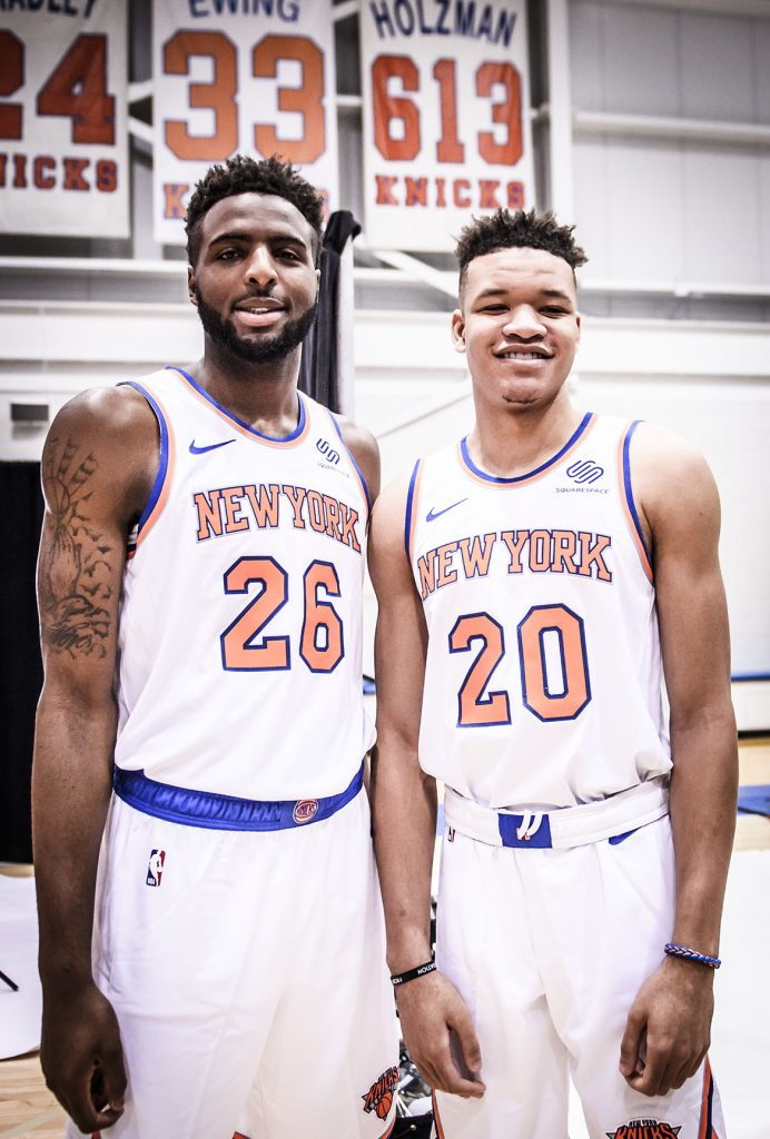 Rookies Mitchell Robinson and Kevin Knox