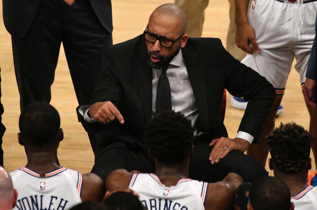 David Fizdale coaching the Knicks