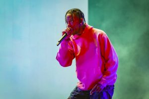 Travis Scott in performance (photo by Mark Horton)