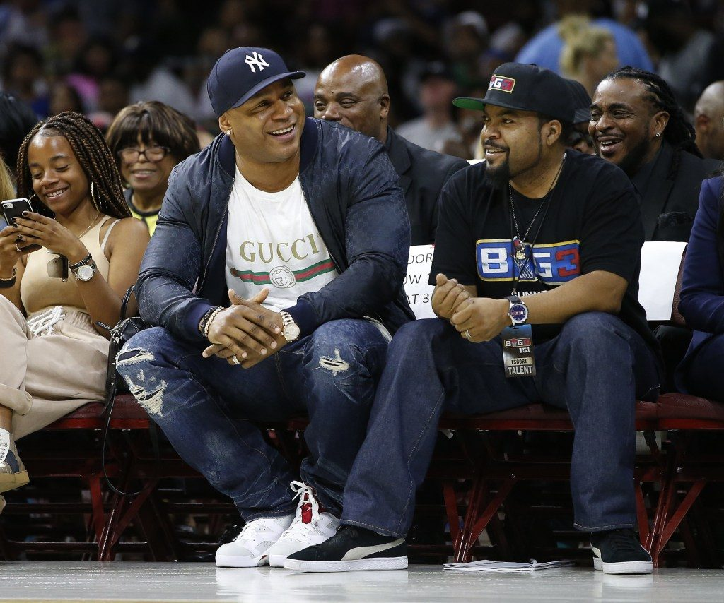 LL Cool J and Ice Cube taken by Rich Schultz (AP Photo)