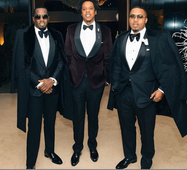 Jay-Z, Diddy, and Nas, Photo from Instagram via Nas profile