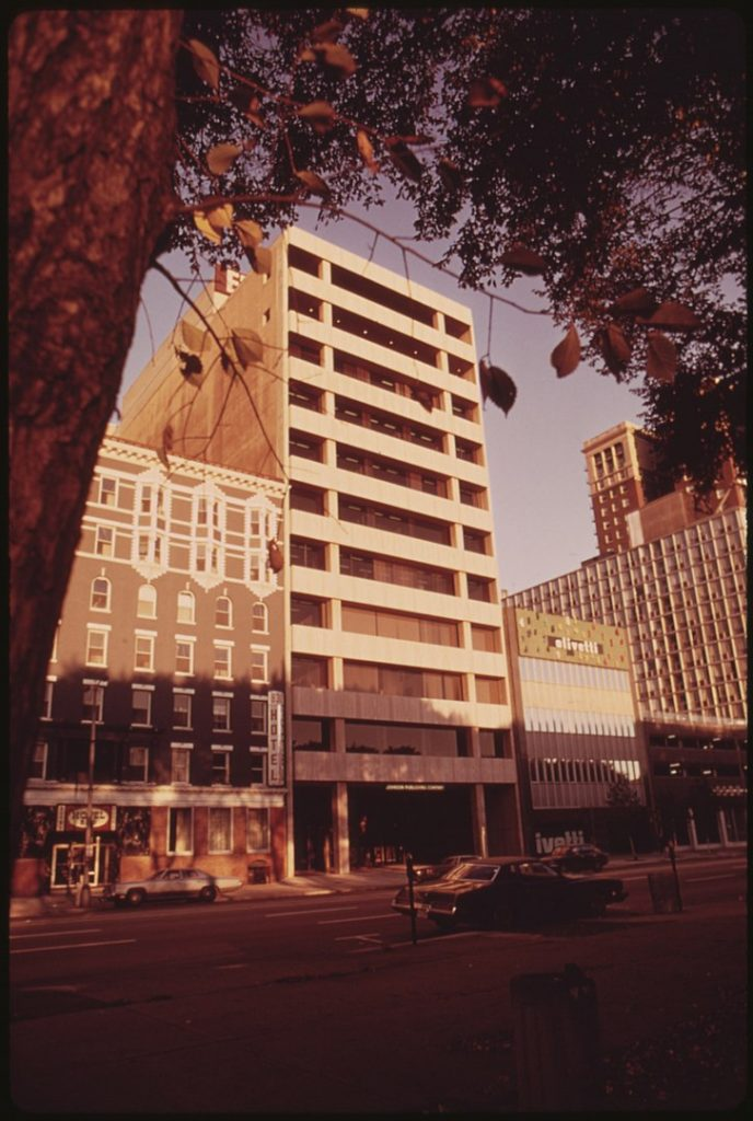 Johnson Publishing on Michagan Avenue in Chicago